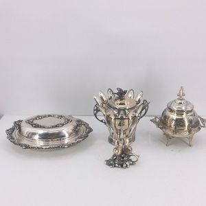 Victorian Silver Plated Serving Set of 4